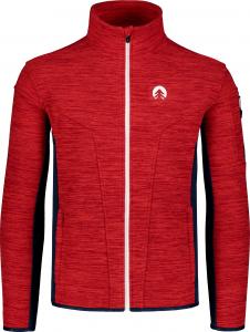 Bluza barbati Nordblanc SILENT fleece Powerful red0