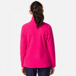 Bluza copii Rossignol GIRL 1/2 ZIP FLEECE Pink fushia1