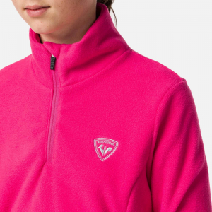 Bluza copii Rossignol GIRL 1/2 ZIP FLEECE Pink fushia2