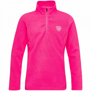 Bluza copii Rossignol GIRL 1/2 ZIP FLEECE Pink fushia0