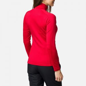 Bluza dama Rossignol W CLASSIQUE 1/2 ZIP Carmin1