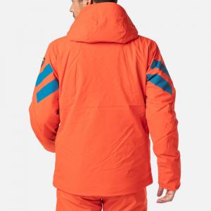 Geaca schi barbati Rossignol FONCTION lava orange1