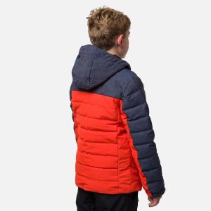 Geaca schi copii Rossignol BOY POLYDOWN Lava orange1