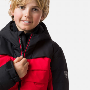 Geaca schi copii Rossignol BOY POLYDOWN Sports red2
