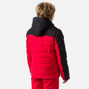 Geaca schi copii Rossignol BOY POLYDOWN Sports red1