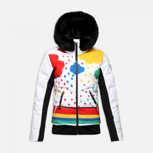 Geaca schi dama Rossignol JCC W FURI PR DOWN Rainbow2