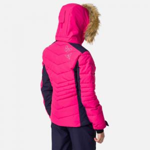 Geaca schi fete Rossignol GIRL BB POLYDOWN Pink fushia2