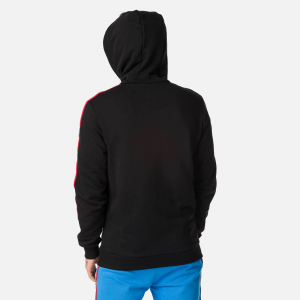 Hanorac barbati Rossignol FLAG SWEAT Black2