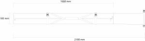 Husa schi Rossignol STRATO EXTENDABLE 1 P PADDED 160-2108