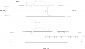 Husa schi Rossignol TACTIC SK BAG EXTENDABLE LONG 160-2103