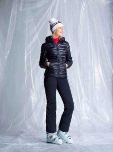 Jacheta dama Rossignol W LIGHT DOWN HOOD Black3