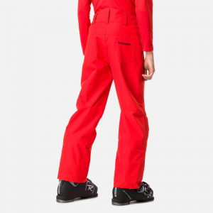 Pantaloni schi copii Rossignol BOY SKI Crimson1