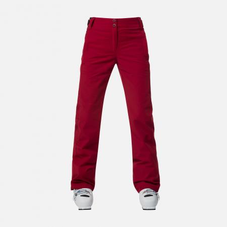 Pantaloni schi dama Rossignol W ELITE Dark red3