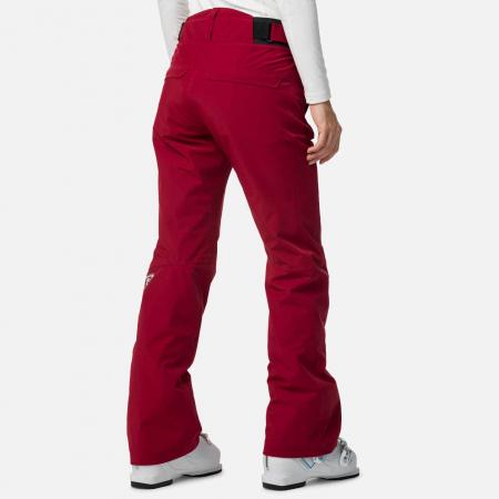 Pantaloni schi dama Rossignol W ELITE Dark red1