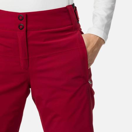Pantaloni schi dama Rossignol W ELITE Dark red2