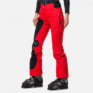 Pantaloni schi dama Rossignol JCC W NUITI Red4
