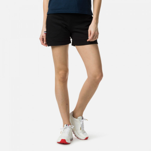 Short dama Rossignol W SWEAT Black0