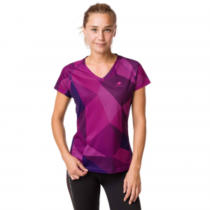 Tricou alergare dama Raidlight W TECHNICAL SS TOP Purple0