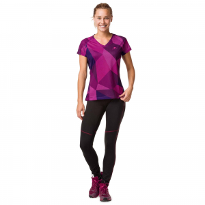 Tricou alergare dama Raidlight W TECHNICAL SS TOP Purple2