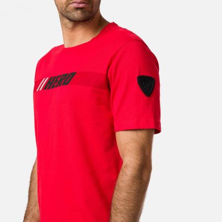 Tricou barbati Rossignol HERO Neon red2