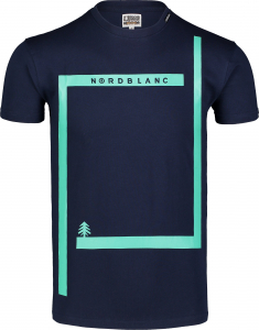 Tricou barbati Nordblanc ENFRAME cotton Dark blue0