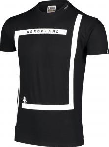 Tricou barbati Nordblanc ENFRAME cotton Black1