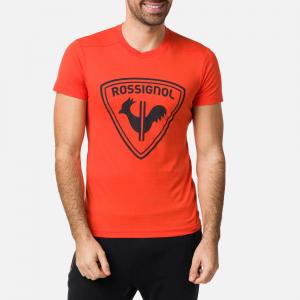 Tricou barbati ROSSIGNOL Lava orange1