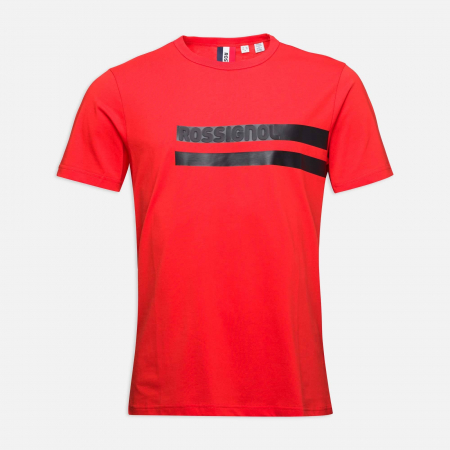 Tricou barbati Rossignol STRIPES CLASSIC Neon red [3]