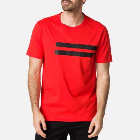 Tricou barbati Rossignol STRIPES CLASSIC Neon red [0]