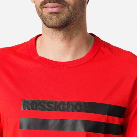 Tricou barbati Rossignol STRIPES CLASSIC Neon red [2]