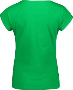 Tricou dama Nordblanc LAUREL Loose Fit cotton Amazon green1