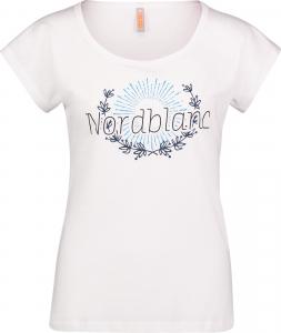 Tricou dama Nordblanc LAUREL Loose Fit cotton White0