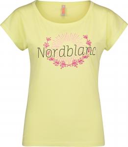 Tricou dama Nordblanc LAUREL Loose Fit cotton Lemon green0