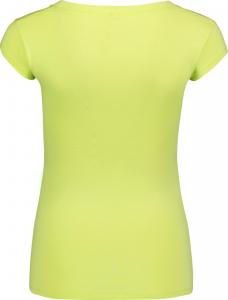 Tricou dama Nordblanc NEST viscose elastan Lemon green1