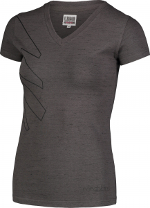 Tricou dama Nordblanc W CONIFER cotton Graphite melange1