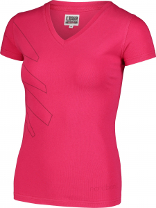 Tricou dama Nordblanc W CONIFER cotton Air pink1