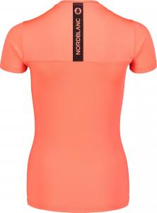 Tricou dama Nordblanc W UNIFY fitness Fiery coral2