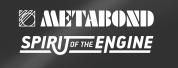 Autocolant decupat Metabond + Spirit of the engine alb 15 cm 0