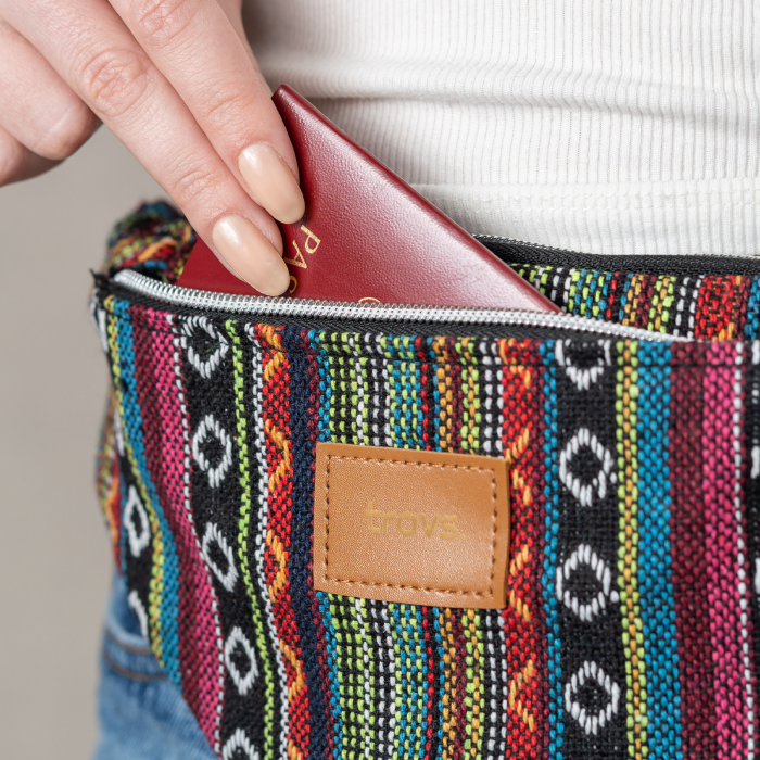 Borseta AMED colorata din material textil cu doua buzunare [1]
