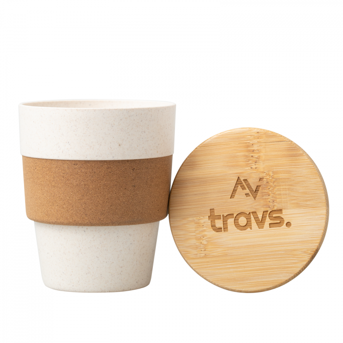 Cana cafea TROPIC din bambus, cu capac, 350 ml [0]
