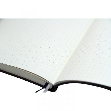 Agenda A5 ASH neagra, 96 de pagini cu coperta din piele ecologica [4]