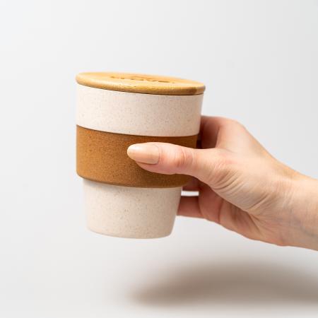 Cana cafea TROPIC din bambus, cu capac, 350 ml [2]