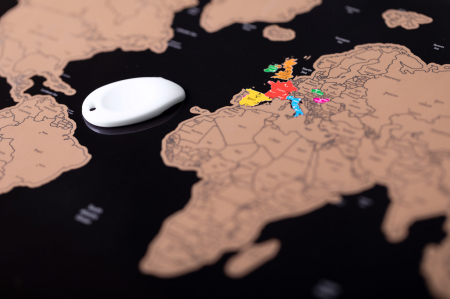 Harta razuibila THE WORLD, 43 x 28.5 cm cu accesoriu de razuit [4]