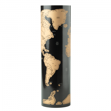 Harta razuibila THE WORLD, 43 x 28.5 cm cu accesoriu de razuit [0]