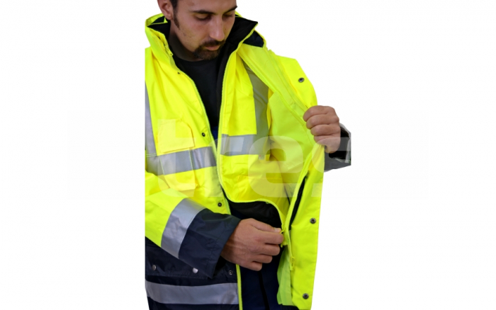 BIROAD, jacheta de iarna reflectorizanta, 3 in 1 3
