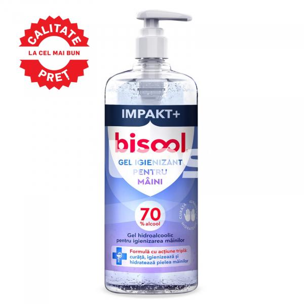 BISOOL GEL 1L, Gel hidroalcoolic pentru igienizarea mainilor, Flacon 1 litru 0
