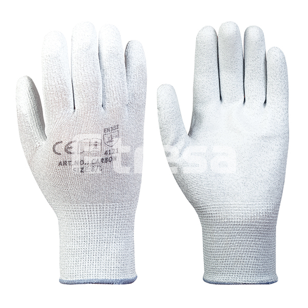 CARBON, Manusi de protectie din Nylon, cu imersie de poliuretan 0