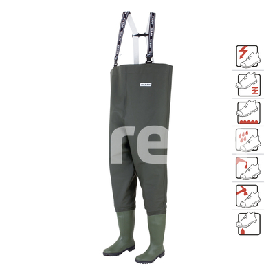 Danubio S5 Cizme pantalon de protectie cu bombeu metalic si lamela antiperforatie din otel 0