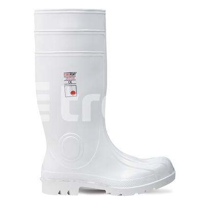 EUROFORT S4, cizme de protectie albe din PVC cu bombeu metalic 0