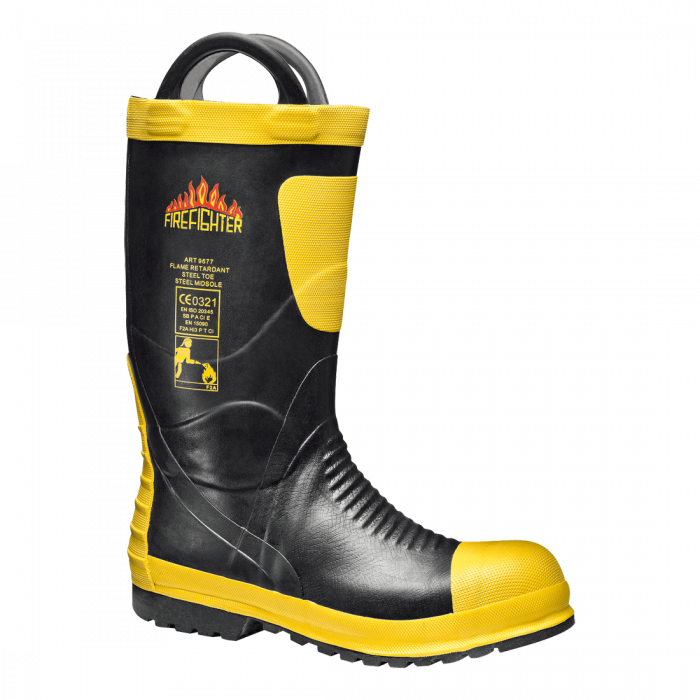 Firefighter Boot S5 HI CI HRO SRA, cizme de protectie pentru pompieri cu bombeu metalic si lamela antiperforatie(29106) 0